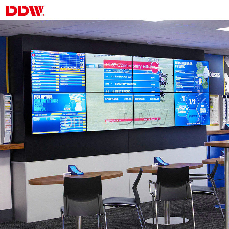 Open Source Control Room Video Wall , 1.7 mm Splice Screen Surveillance LCD Video Wall Display